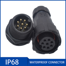 IP68 20A Motor Waterproof Aviation Plug 2/3/4/5/6/7/8/9/10 11/12 Pin M16 Sensor Signal Connectors Sealed Retardant Junction Box waterproof connector 20a ip68 underground junction box for 2 3 4 5 6 7 8 9 pin cables 8 10 5mm outdoor led light wire use