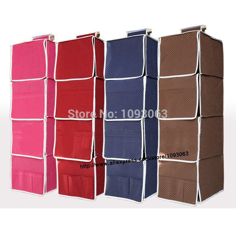 Hanging Storage Bags Closet Wardrobe Shelf Stackable Foldable Full Board