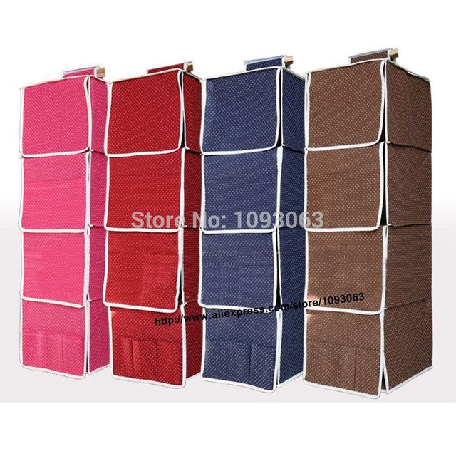 Hanging Storage Bags Closet Wardrobe Shelf Stackable Foldable Full Board  Closet