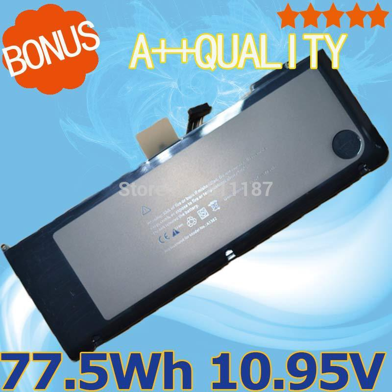 10.95V 77.5Wh laptop battery for Apple A1382 A1286 2009 2011 2012 Version For MacBook Pro 15