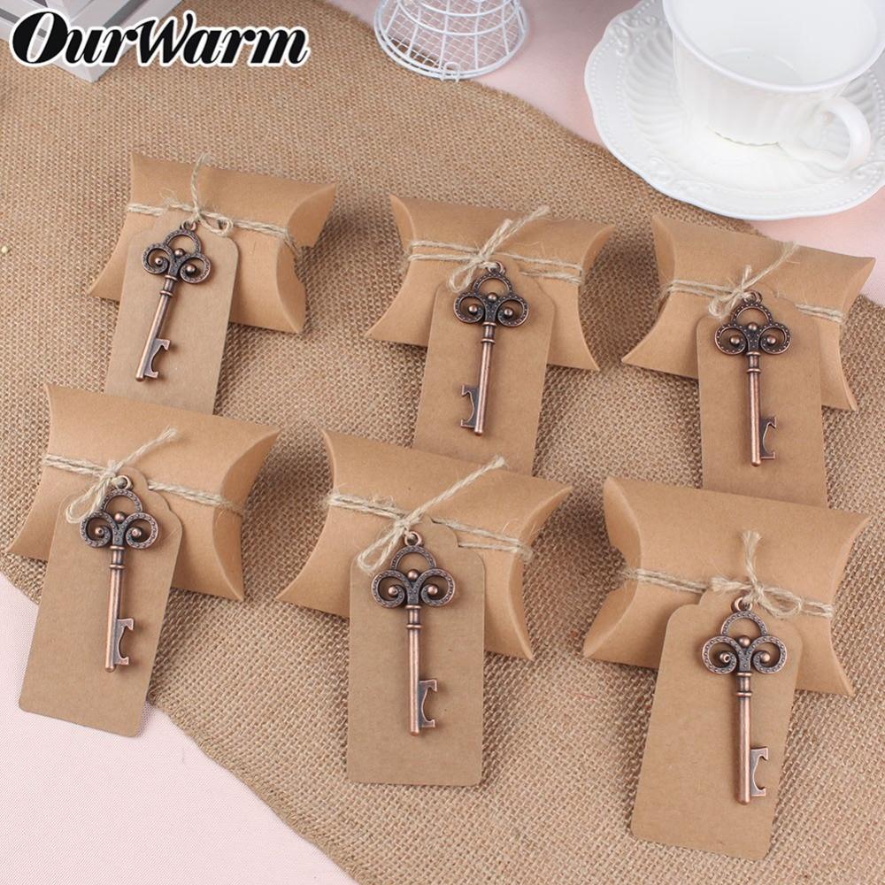 OurWarm DIY Rustic Wedding Favors Bottle Opener Keychain