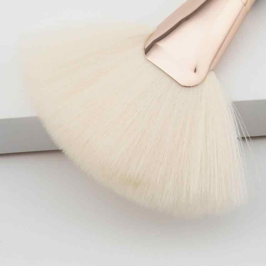 Brocha grande para maquillaje, colorete en polvo para pelo de cabra, pincel cosmético para base SP28