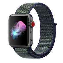 Band For Apple Watch Series 3/2/1 38MM 42MM Nylon Soft Breathable Replacement Strap Sport Loop for iwatch series 4 40MM 44MM(China)