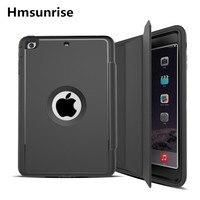 Hmsunriseケースアップルのipadミニ2キッズセーフ耐震ヘビーデューティtpuハードスタンドカバーのためのipadミニ1/2/3フル保護
