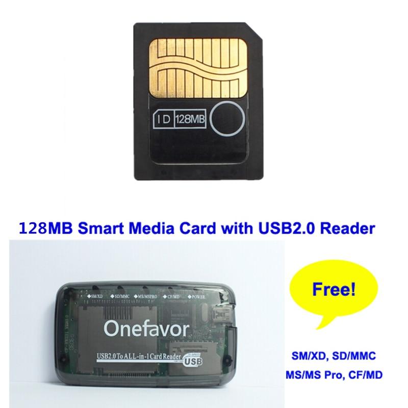 Big Promotion 128MB 3.3V 3V SmartMedia Card SM 128M Memory Card Smart Media Card+SM Memory Card Reader-in Memory Cards from Computer & Office    1