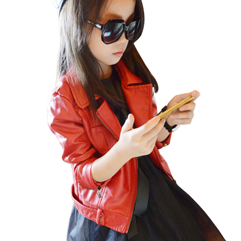 Baby girl font b leather b font jacket font b kids b font girls jpg