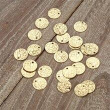 100 шт./лот, 10 мм, сплав золотого цвета, плавающие вены, круглые, сплав, монета, подвески для ювелирных изделий, сделай сам, монета, подвески, аксессуары