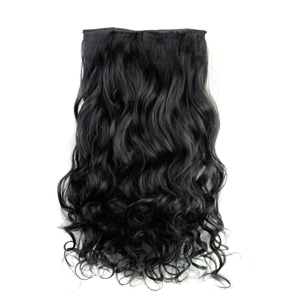 Rockstar Искусственные парики 16 цветов 24 дюймов длинные волнистые Синтетические пряди для наращивания волос 5 Зажимы в высоком Температура Волокно блондин парики