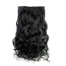Rockstar Wigs 16clors 24Inches Long Wavy Synthetic Hair Extensions 5Clips in High Temperature Fiber Black Blond Hairpiece