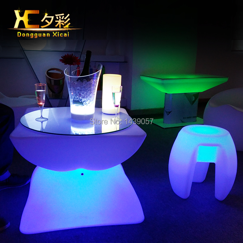 LED Light Up Bar Table Glowing Night Club Furniture Living Room  Rechargeable Luminous Coffee Tables In Bar Tables From Furniture On  Aliexpress.com | Alibaba ...