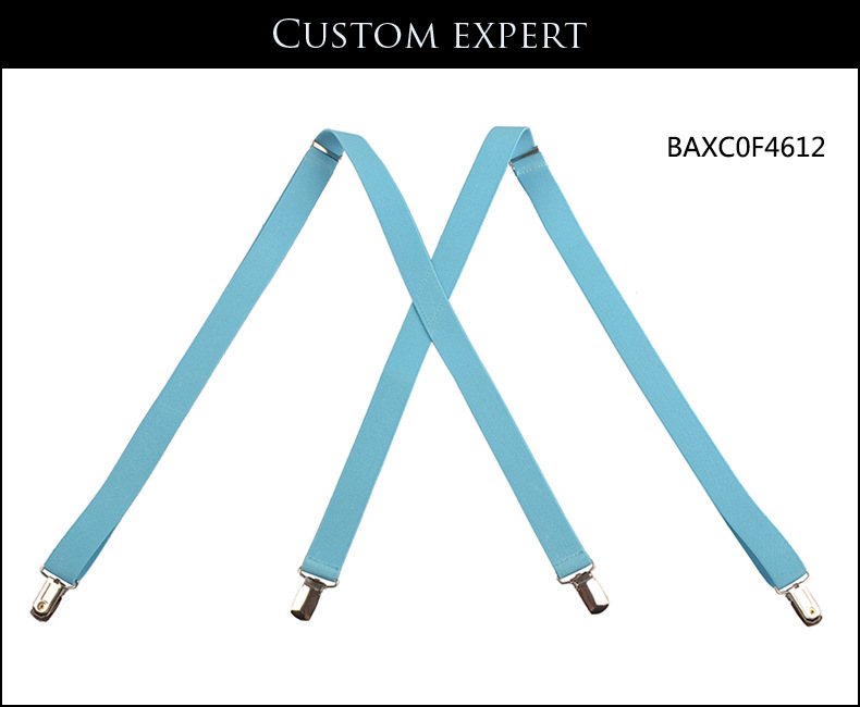 2017 New Lovers Mens Suspenders 4 Braces Clip-on X-Back Unisex Suspenders 2 Piece Free Shipping