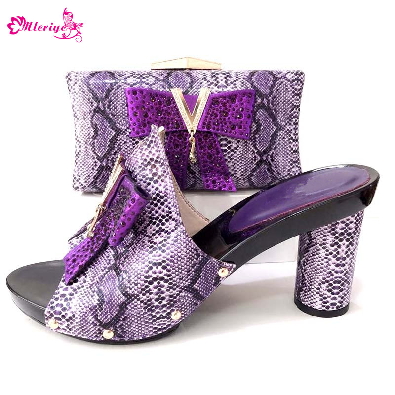 Italian Shoes and Bag To Match Shoes with Bag Purple Decorated with Rhinestone Shoes and Bag Set African Set Party Shoe and Bag doershow ladies italian shoes and bag set decorated with rhinestone african wedding shoes and bag set party black shoes svp1 15