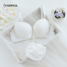 4c150a1b48 Young girl women push up bra sets sexy lace Jacquard mesh girl bra set  underwear lingerie