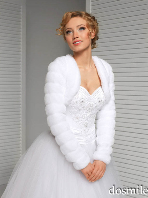 224869c5a27fd5 2017 mode langarm pelz Braut jacke Weiß rot schwarz Neue Hochzeit  Neck-pelz-jacke