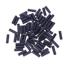 Końcówki kabla hamulca rowerowego 100 sztuk partia MTB rower wewnętrzny zaślepki końcówki zaciskowe 4MM nasadka hamulca drut okucia akcesoria rowerowe części tanie tanio CN (pochodzenie) End caps 17MM Plastic 100pcs