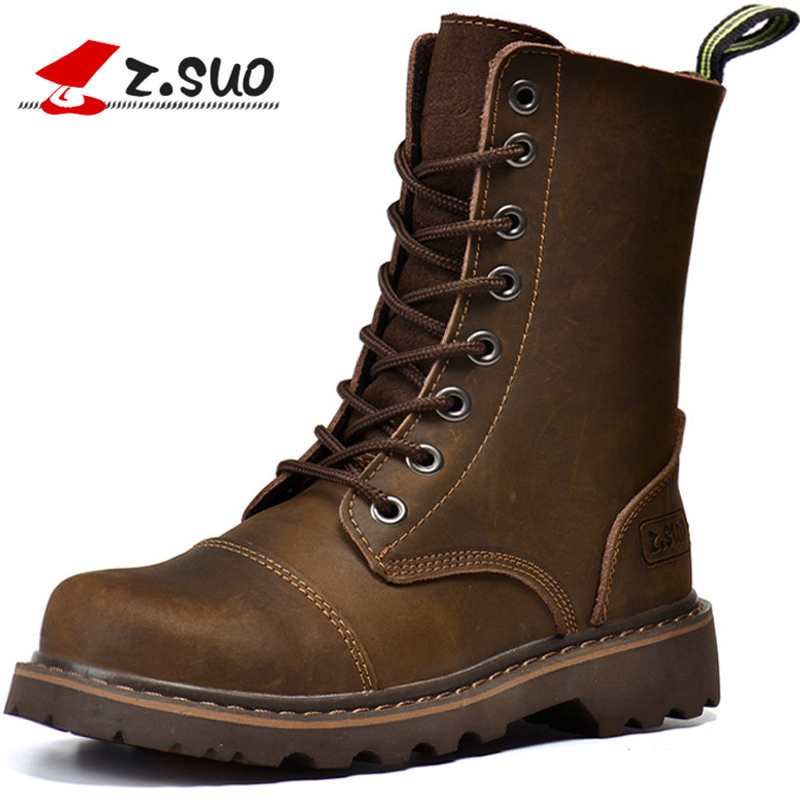 Z. Suo women Boots Canister Boots Restoring Ancient Ways of Fashion Women High Quality with Ladies Boots Botas Mujer Zs6818 short boots woman the fall of 2017 a new restoring ancient ways british wind thick boots bottom students with martin boots