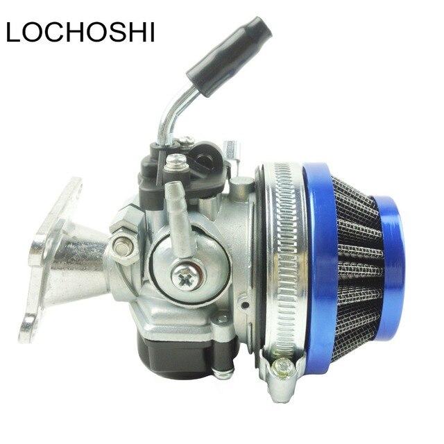 Lochoshi corrida carburador conjunto do filtro de ar tubo de admissão para 49cc 50cc 60cc 66cc 80cc 2 tempos mini bolso bicicleta atv