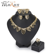 hot deal buy mukun dubai jewelry sets wedding bridal jewelry sets imitation crystal jewelry set african beads jewelry set for women 2018 new