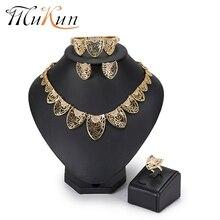 hot deal buy mukun dubai jewelry sets wedding bridal jewelry sets imitation crystal jewelry set african beads jewelry set for women 2018 new