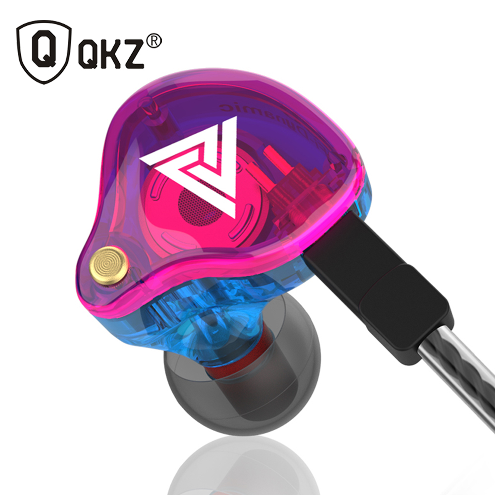 Original QKZ VK4 Colorful In Ear Earphone Headset HIFI Bass Noise Cancelling Earbud Headphone With Mic Replaced Cable