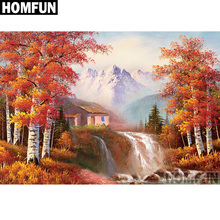 HOMFUN Full Square/Round Drill 5D DIY Diamond Painting Autumn scenery Embroidery Cross Stitch 5D Home Decor Gift A06693 homfun full square round drill 5d diy diamond painting deer scenery embroidery cross stitch 5d home decor gift a18124