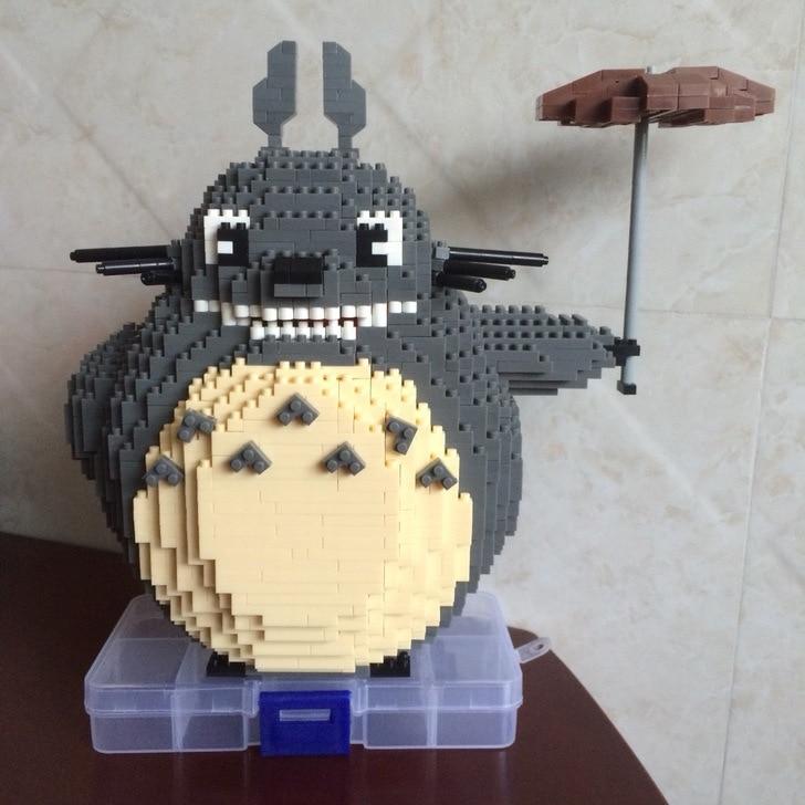 HC 9005 Hayao Miyazaki Diamond Totoro Doll  Bricks Diamond Building Blocks Toys Children Gifts hayao miyazaki totoro bag anime backpack school bags 2016 oxford cartoon book bookbag teenagers my neighbour totoro printed