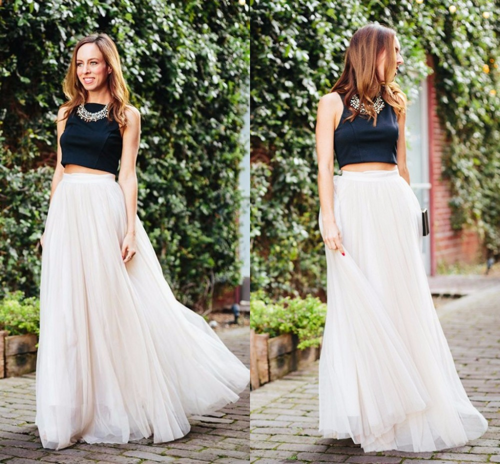 A Line Tulle Skirt - Skirts