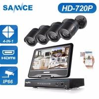 SANNCE DVR Kits Monitor 8CH 720P HD DVR Recorder home Kit CCTV security Cameras set beveiligings Surveillance System outdoor
