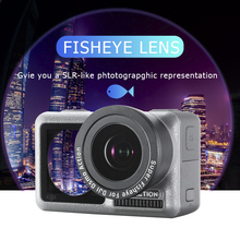LINGHUANG  180 Degree Super Fisheye Camera Lens for DJI Osmo Action With HD 4K Optical Glass Accessories
