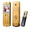 MAFAM A8 Русский Арабский Испанский Французский Вибрации Роскошный металлический корпус автомобиль логотип dual sim Мобильный телефон с кожаный чехол подарок P234