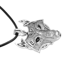 Boy's Wolf Head Shaped Pendant Necklace