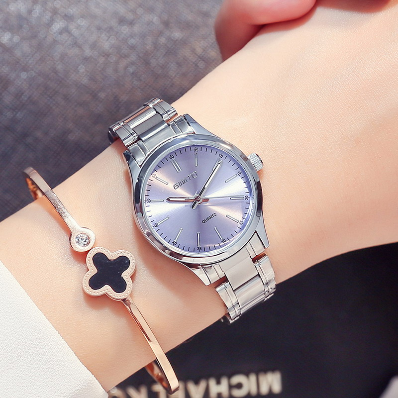 GIMTO Brand 2018 Fashion Bracelet Women Watches Luxury Steel Ladies Quartz Watch Waterproof Female Dress Clock relogio feminino xinge top brand luxury women watches silver stainless steel dress quartz clock simple bracelet watch relogio feminino