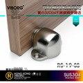 VIBORG 304 Stainless Steel Casting Powerful Floor-mounted  Magnetic Door Stopper Door Stop Doorstop satin nickel brushed RS-19
