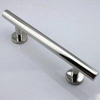 300mm 304 Stainless Steel Big Glass Wood Door Handles Modern Furniture Dresser Chrome Silver Pulls And