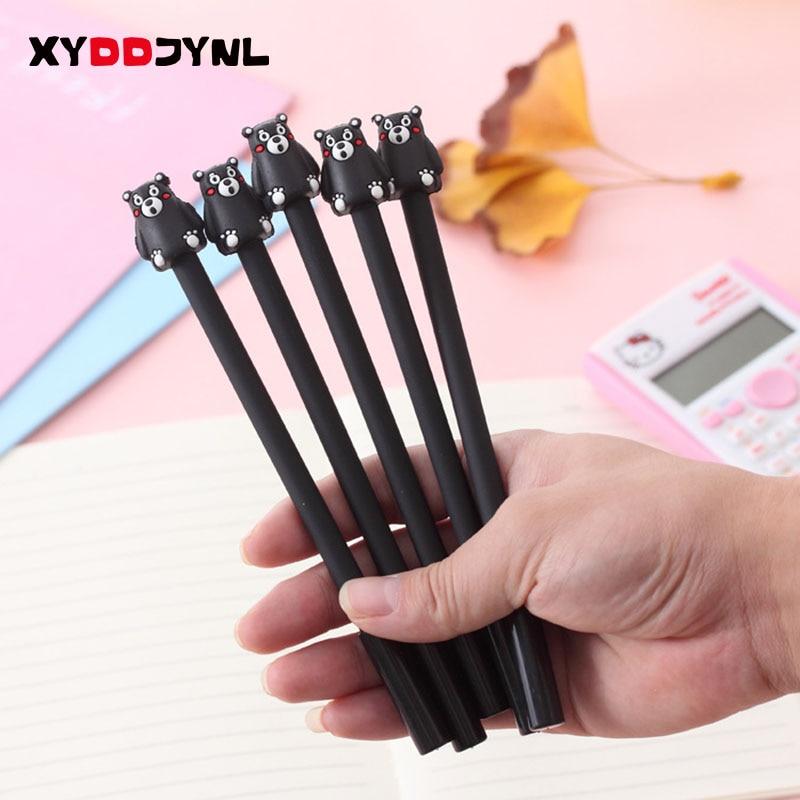 2PCS Cute Kumamon Gel Pen Black Bear Pens School & Office Supply Student Kawaii Stationery Supplies Gifts Papelaria