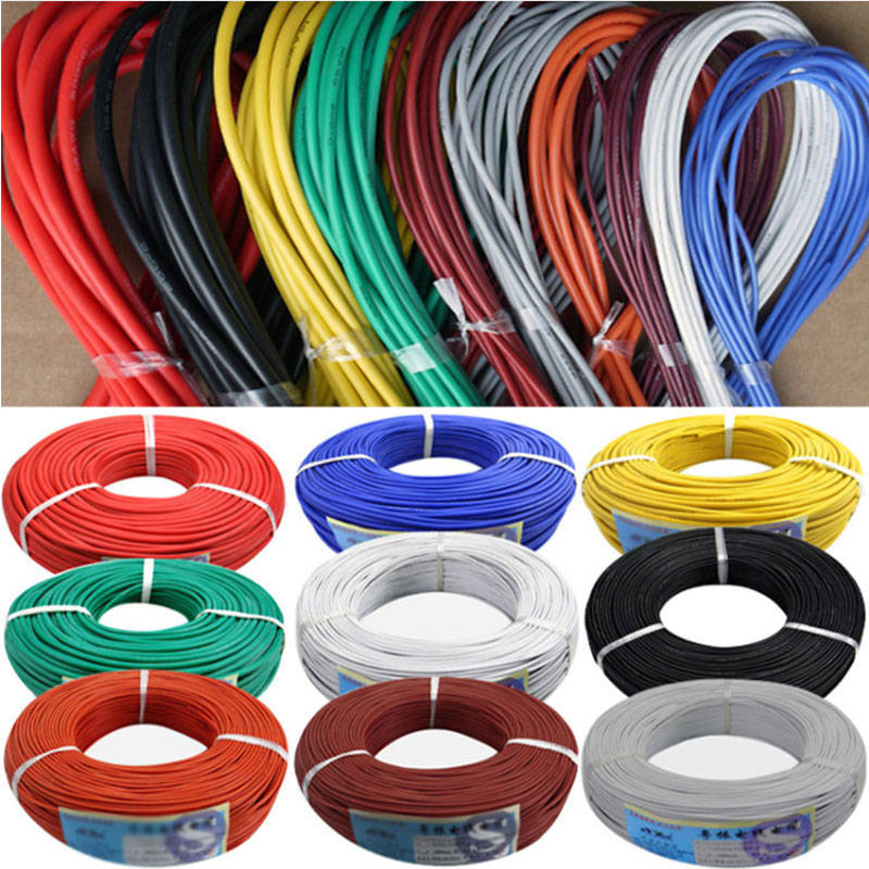 1/5/10/20/50/100/300meters <font><b>28AWG</b></font> Flexible <font><b>Silicone</b></font> Wire Tinned copper line DIY Electronic cable 10 colors to choose from image