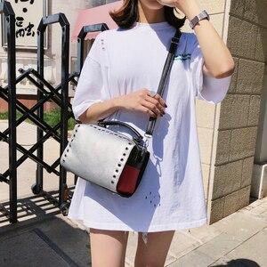 Image 5 - Summer Womens Silver Bag Handbag Luxury Brand Fashion Ladies 2019 Womens Shoulder Bag Clutch Ladies Hand Bags Female Leather