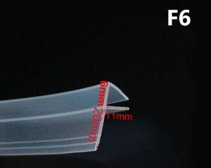 Image 5 - 2 metrów/partia poszerzony F/h kształt gumy silikonowej drzwi prysznicowe szyba okienna uszczelnienie taśma uszczelniająca dla 6/8/10/12mm szkła