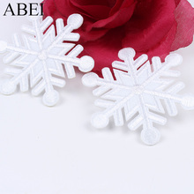 10 шт. 65 мм железная белая Снежинка наклейки вышивка ткань аппликация пришить платье рубашки брюки рюкзак обувь патч DIY
