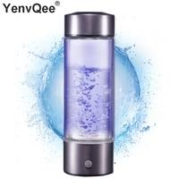 500 ml נייד מימן גנרטור מים Ionizer מסנן טהור H2 PEM עשיר מימן אלקליין בקבוק אלקטרוליזה לשתות מימן