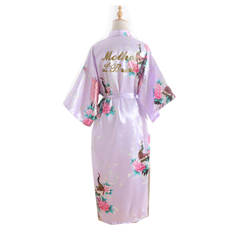 """mutter Der Braut"" Brief Pfau Frauen Robe Braut Brautjungfer Hochzeit Kimono Roben Nachtwäsche Nachthemd Bademantel Pyjamas"