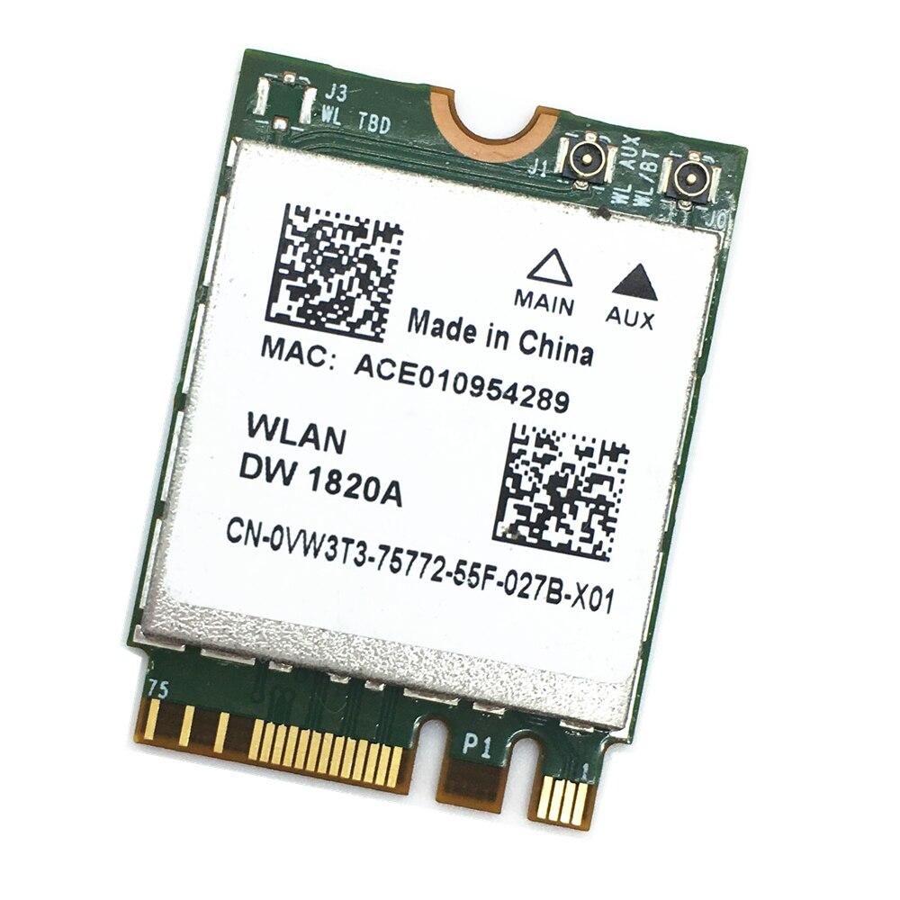 DW1820A BCM94350ZAE 802.11ac BT4.1 867Mbps BCM94350 M.2/NGFF WiFi Wireless Card PK BCM94352Z