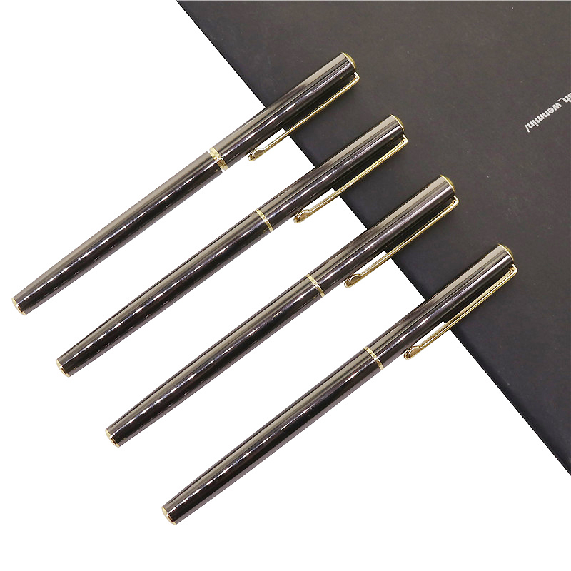 Pure Metal 0.38mm Extra Fine Fountain Pen Fine Gift PenSstudent School Office Writing Pen Business Signature Pen