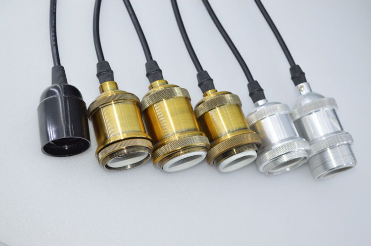 Edison bulb chandelier lights hanging brass lamp holder for How to make an edison lamp