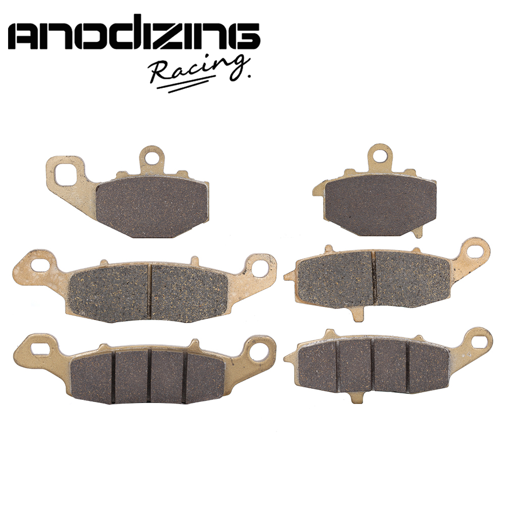 Motorcycle Front and Rear Brake Pads For KAWASAKI GPZ1100 95-98 Z750 ZR750 04-07 Z750S 05-07 ER-6N 2006-2013 starpad motorcycle kawasaki z750 z1000 07 after the brake pads brake pads gold wholesale versatility