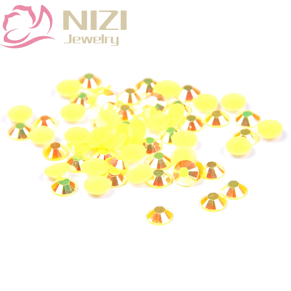 Non Hotfix Resin Rhinestones For Nail Art Decorations 2-6mm Topaz AB Color 14 Facets Strass Glitter Crystal Stones Nail Beads gitter 2 6mm citrine ab color resin rhinestones 14 facets round flatback non hotfix beads for 3d nail art decorations diy design