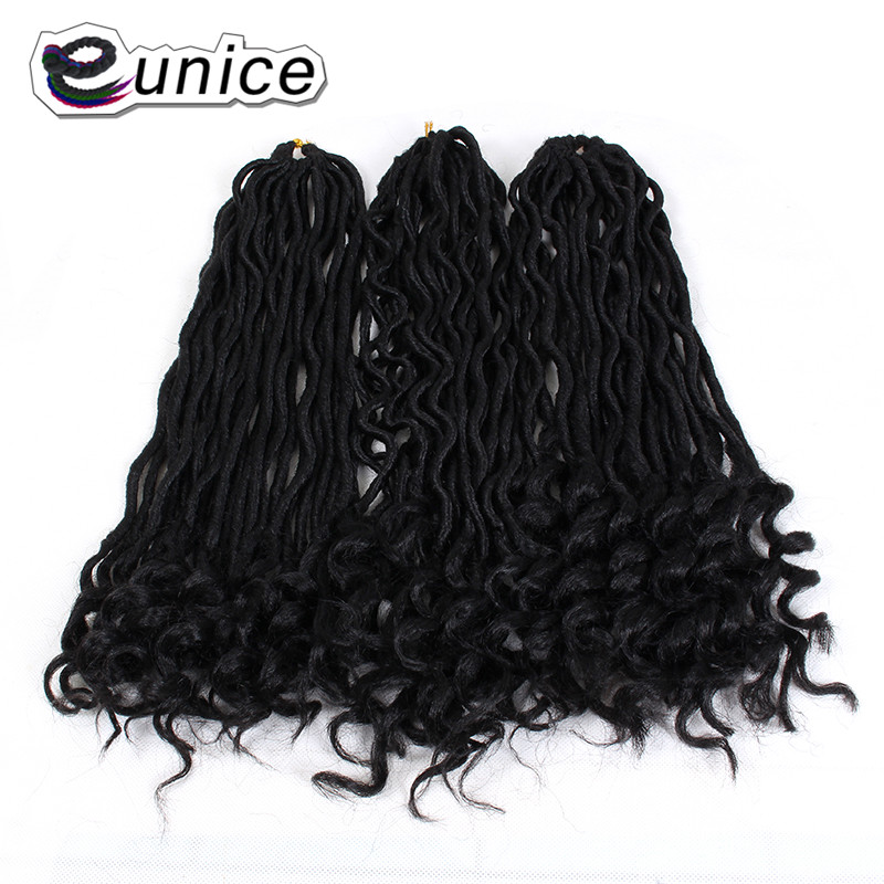 Faux Locs Curly Heat Resistant Synthetic Hair Extensions (72)