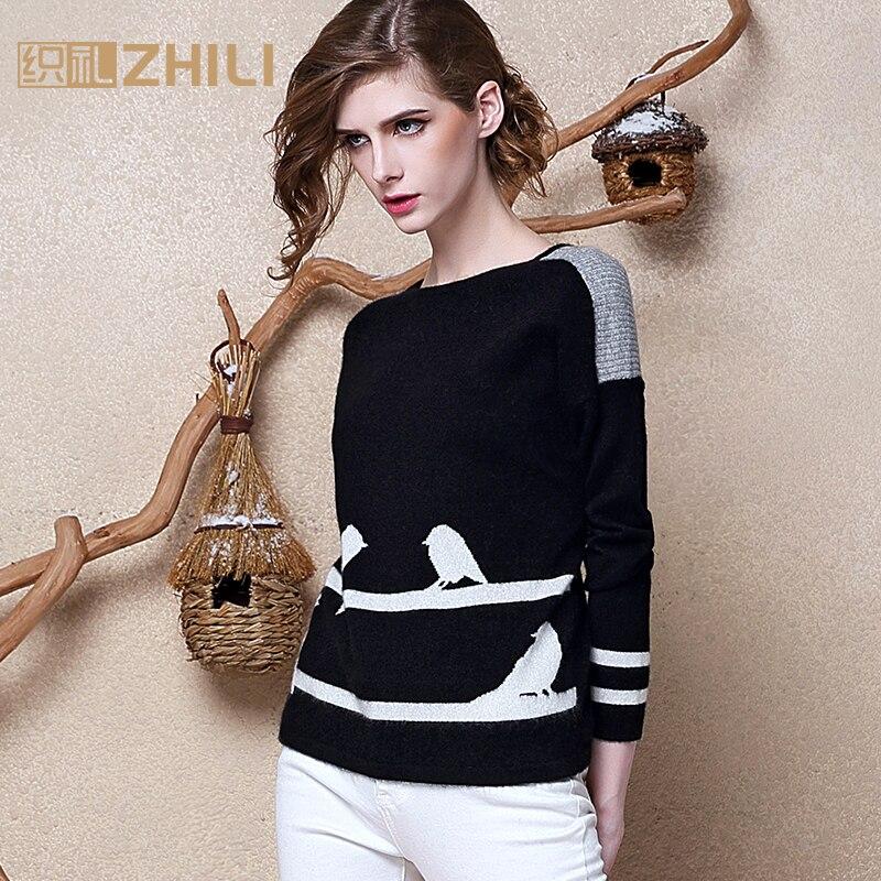 100% чистый кашемир свитера женские зимние теплые пуловеры 2017 новые горячие продажи с круглым вырезом свитера Стандартный пуловер для девоче