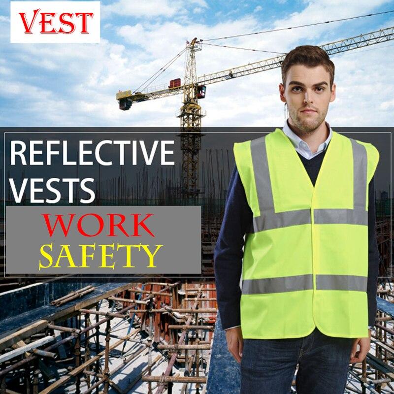 Haute qualité haute visibilité gilet de sécurité au travail haute réfléchissant gilet de sécurité gilet fluo jaune et orange grande taille s-xxxl