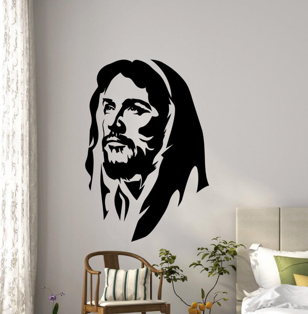 Google chrome themes jesus christ - Jesus Christ Wall Decal Vinyl Art Mural Church Wall Stickers Religious Interior Removable Classic Christian Home